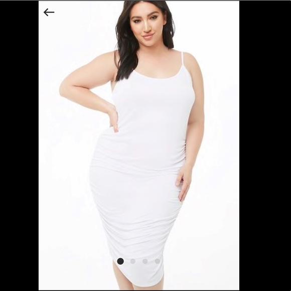 Forever 21 Plus size midi white cami dress NWT